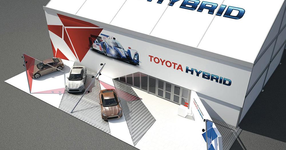 Toyota Le Mans Motor Sport Event Design + Konzept Motorhome