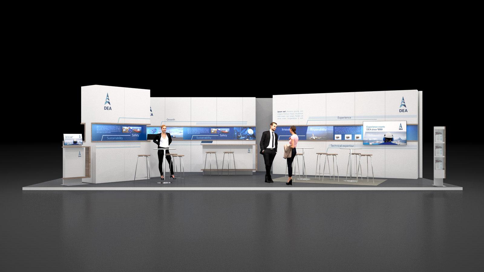 DEA Messekonzept 3D Visualisierung
