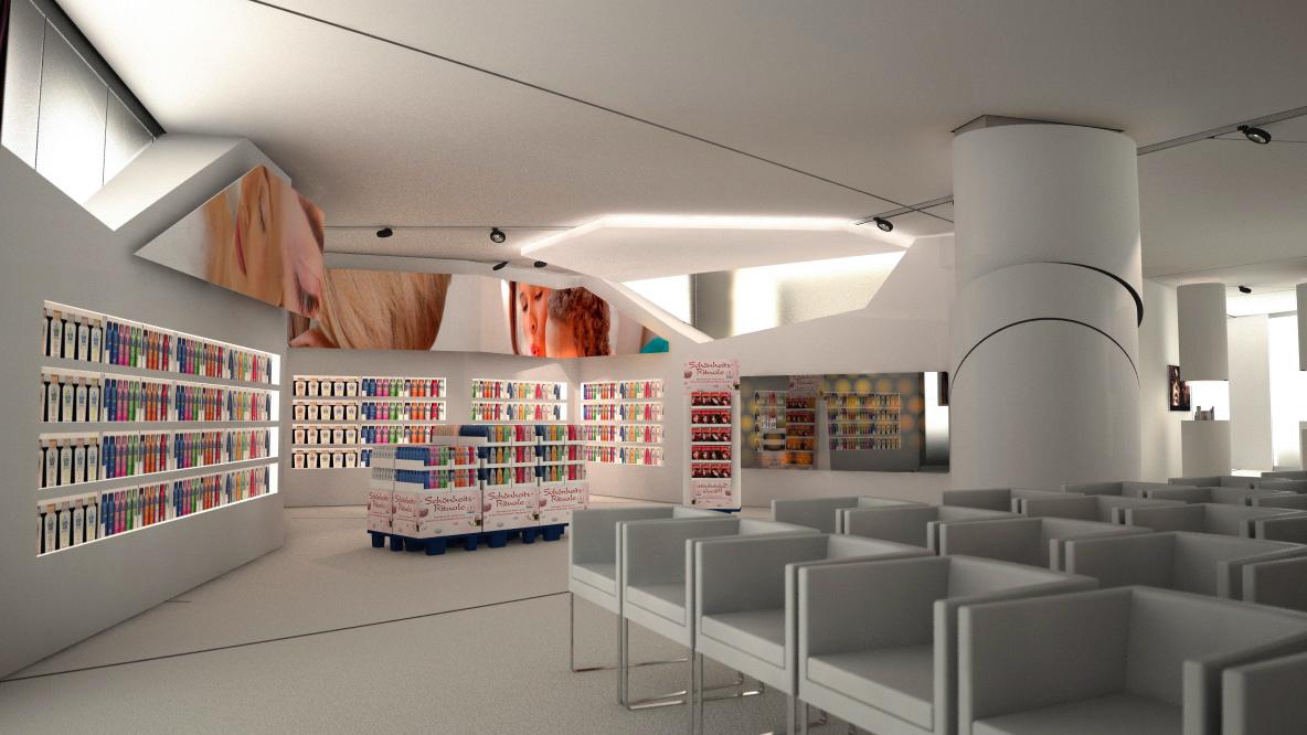 Henkel Cosmetics Beauty Lighthouse Präsentationsbereich